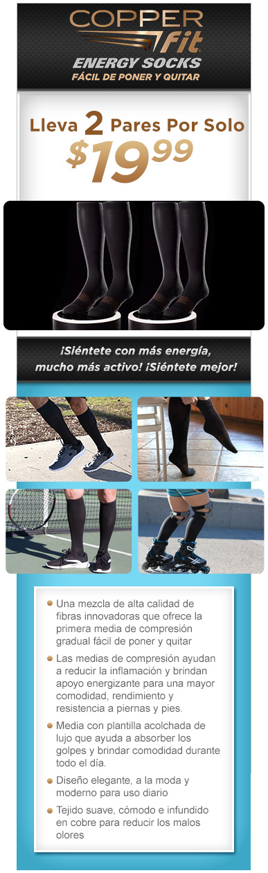 Ordena Copper Fit™ Energy Socks Ya